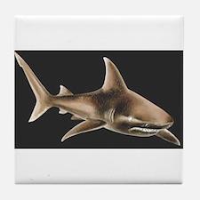 Cute Bull shark Tile Coaster