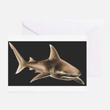 Unique Tropical fish blue sharks Greeting Cards (Pk of 10)