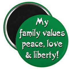 Progressive Family Values Magnet