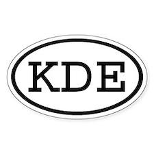 KDE Oval Oval Decal