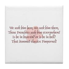 Pimpernel Poem - Tile Coaster