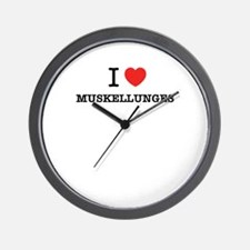 I Love MUSKELLUNGES Wall Clock