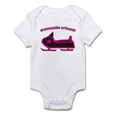 """Snowmobile Princess"" Infant Bodysuit"