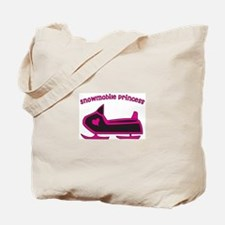 """Snowmobile Princess"" Tote Bag"