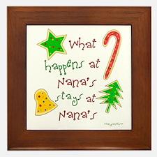 """""""Christmas Nana"""" Framed Tile"""