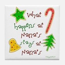 """Christmas Nana"" Tile Coaster"