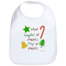"""Christmas at Nana's"" Bib"