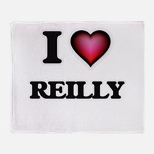 I Love Reilly Throw Blanket
