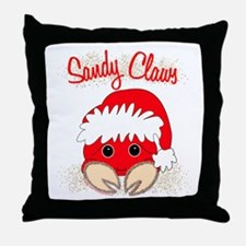 """""""Sandy Claws"""" Throw Pillow"""