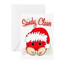 """Sandy Claws"" Greeting Cards (Pk of 10)"