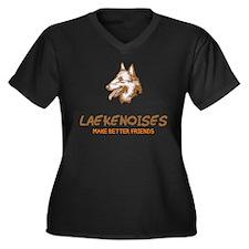 Belgian Laekenois Women's Plus Size V-Neck Dark T-