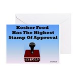 Kosher Food Has The Highest S Greeting Card