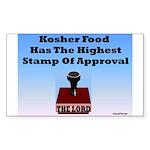 Kosher Food Has The Highest S Sticker (Rectangular