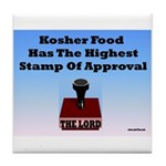 Kosher Food Has The Highest S Tile Coaster