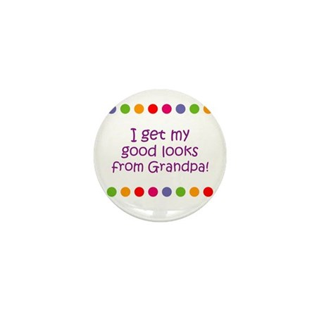 I get my good looks from Gran Mini Button (10 pack
