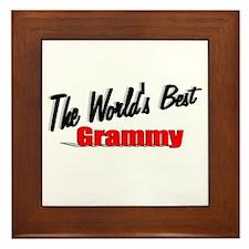 """""""The World's Best Grammy"""" Framed Tile"""