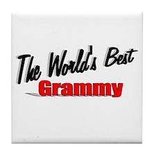 """The World's Best Grammy"" Tile Coaster"