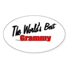 """The World's Best Grammy"" Oval Decal"