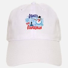 Frosty the Fisherman Baseball Baseball Cap