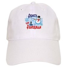Frosty the Fisherman Baseball Cap