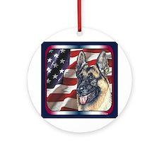 German Shepherd Dog Ornament (Round)