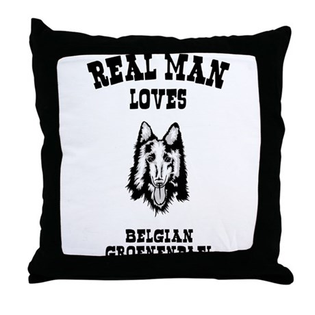 Belgian Groenendael Throw Pillow