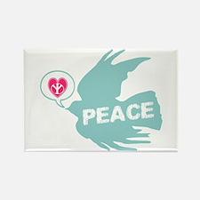 Peace Love & Dove Deco Art Rectangle Magnet
