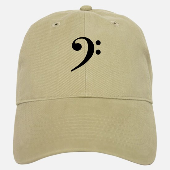 Trad Basic Black Bass Clef Baseball Baseball Cap