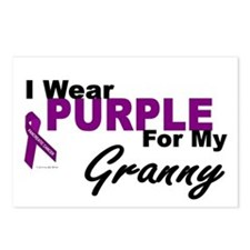 I Wear Purple For My Granny 3 (PC) Postcards (Pack