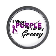I Wear Purple For My Granny 3 (PC) Wall Clock