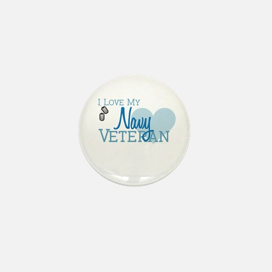Navy Veteran Mini Button