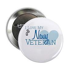 """Navy Veteran 2.25"""" Button"""