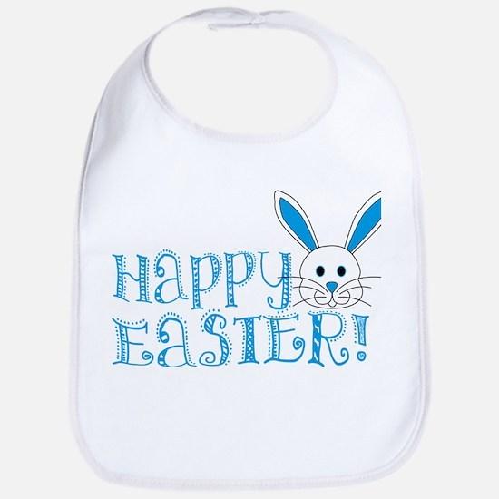 Happy Easter! -Blue/White Bib