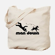 man down airedale Tote Bag