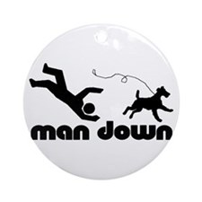man down airedale Ornament (Round)