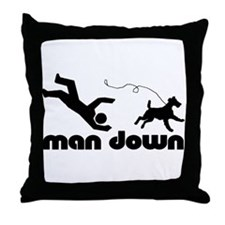 man down airedale Throw Pillow