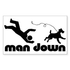 man down airedale Rectangle Decal