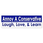 Laugh, Love, Learn (Bumper Sticker)