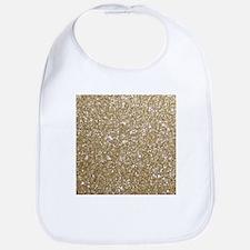 Girly Glam Gold Glitters Bib