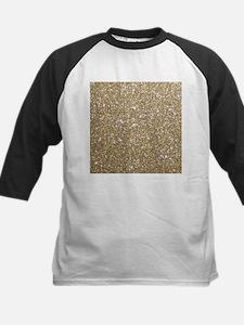 Girly Glam Gold Glitters Baseball Jersey