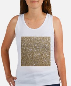 Girly Glam Gold Glitters Tank Top