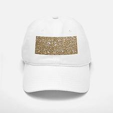 Girly Glam Gold Glitters Baseball Baseball Cap