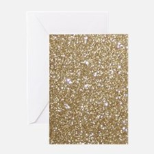 Girly Glam Gold Glitters Greeting Cards