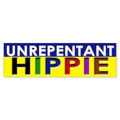 Unrepentant Hippie (bumper sticker)