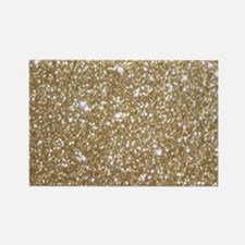 Girly Glam Gold Glitters Magnets