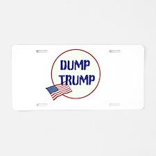 Dump Trump, anti Trump, Aluminum License Plate