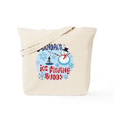 Grandpa's Ice Fishing Buddy Tote Bag