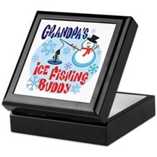 Grandpa's Ice Fishing Buddy Keepsake Box