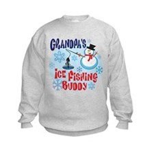 Grandpa's Ice Fishing Buddy Sweatshirt
