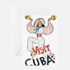 Vintage Visit Cuba Greeting Cards